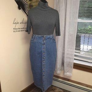 Vintage 1990s Gloria Vanderbilt Jean skirt